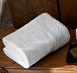 Plain weich White100% Baumwollhotel-Bad-Tücher