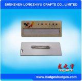 Aluminiumnamensabzeichen mit Sicherungsstiften und Namen-Einlage