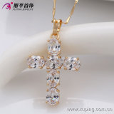 Xuping Fashion 18k 금 Plated Luxury Zircon Cross Pendant (32315)