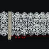 Bande large épaisse de lacet pour le lacet garni par modèle chimique L021 de cercle de tissu