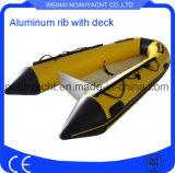 13ft Hypalon aluminio inflable barco de pesca casco V