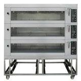 Matériel électrique de traitement au four de pain d'acier inoxydable de 3 plateaux du paquet 9