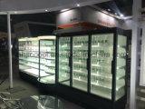 Supermarché vitrine réfrigérée avec profondeur Slim pour les produits laitiers et les boissons