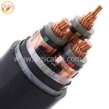 Cabo blindado isolado médio do cabo distribuidor de corrente de cabo distribuidor de corrente da tensão XLPE