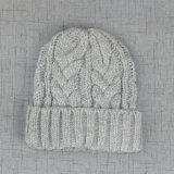 Акриловой шлем кабеля связанный картиной толщиной теплый с тумаком Turnup