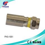 RG6 connecteurs du compactage rf pour le câble coaxial de liaison