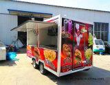 정연한 음식 트럭 거리 음식 트레일러에 의하여 주문을 받아서 만들어지는 호의를 베푸는
