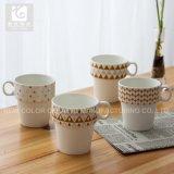 El hueso nuevo China Imprimir taza de café y té de cerámica taza apilable
