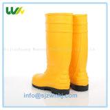 中国からの滑り止めの保護黒い働く雨靴のウェリントンの安全ブート