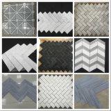 Branco/cinza Espinha de mosaicos de mármore para cozinha/banheiro Flooring