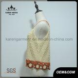 Оптовая тельняшка верхней части бака вязания крючком женщин
