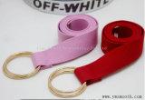 Mode double cercle de sangle élastique personnalisé couleur pure de la courroie de toile