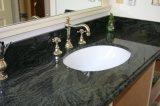 Stanza da bagno superiore del granito del nero del fornitore con la pietra 100% del granito della natura