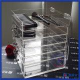 Organizador acrílico da composição da venda quente com gavetas