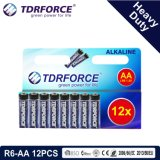 1.5V中国の工場亜鉛カーボン電池の卸売価格(R6-AA 12PCS)