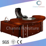 延長テーブル(CAS-SW1701)が付いている贅沢な絵画オフィス用家具の革管理の机
