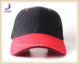 Em algodão pesado de alta qualidade Sarjado Tampa desportivo vermelho simples
