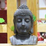 仏のヘッド置物の庭の装飾を切り分ける宗教クラフト
