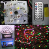 디스코 6X3w DMX DJ LED 수정 구슬 단계 빛