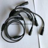 Предложение черного цвета 2 м индивидуальные разветвитель кабеля питания постоянного тока 1 женщин и 8 мужчин