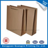 High Quality Brown Paper Kraft Shopping Bag avec Decorative Bowtie