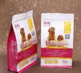 Sacs animaux personnalisés d'aliment pour animaux familiers du fond plat BOPP/Plastic de gousset de côté d'impression