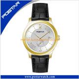 Het elegante Horloge van het Kwarts met de Echte Band van het Leer voor Dames