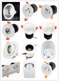 COB LED 7W de haute qualité 100-240 V Hôtel boutique du pilote vers le bas la lumière
