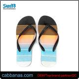 Печать на пляже летом модный стиль Тхонг летней обуви шлепанцы