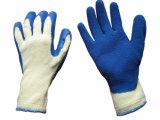 Синий цвет 10g String Вязки с покрытием из латекса гильзы химической работы/рабочие перчатки