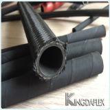 Industrielles Textiläußerer umsponnener hydraulischer Gummischlauch SAE100r5