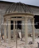 Steen die Natuurlijke Beige Marmeren Tuin Gazebo snijden