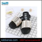 Эбу системы впрыска желе стильный печати для использования внутри помещений душ дамы обувь тапочки для женщин