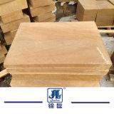 Le pietre naturali poco costose della Cina smerigliatrice l'arenaria gialla per le mattonelle/rivestimento esterno della parete