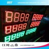 L'extérieur du prix du gaz de couleur rouge signe à LED
