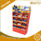 Surgir el estante del supermercado del almacenaje de la pared del soporte de visualización de la cartulina para el tazón de fuente/el chocolate