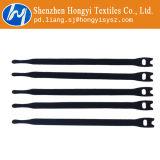 Черный многоразовый крюк и петля кабельные стяжки регулируемый