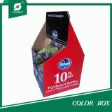 2016 Fashion Design Carton ondulé Four Bottles Wine Box