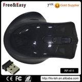 黒い4Dコードレス無線電信USBの光学マウス