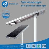50W a lâmpada de Rua Solar de LED com bateria de LiFePO4