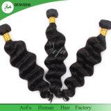 La qualité de haut grade humide et extension de cheveux humains ondulées