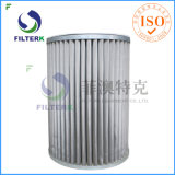 Filtre plissé parItalie de gaz naturel de polyester de rechange de Filterk