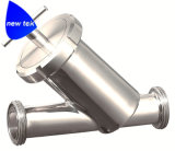 Тип сваренный прикладом y стрейнер нержавеющей стали санитарным фильтра (NT-ST2313)