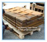 Alte parti di usura del frantoio a mascella del pezzo fuso d'acciaio del manganese per Metso, Terex Pegson, piatto della mascella di Sandvik
