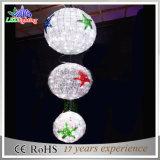 Wit die van de Decoratie van LEIDENE 3D Kerstmis van de Bal Licht achtervolgen