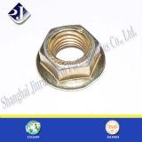 Parafuso de flange hexagonal de zinco amarelo