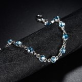 Gp Austrial blanco azul Cristal Pulsera de Bisutería Pulsera magnética