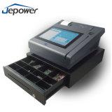 Cajón e impresora terminales del efectivo del soporte de la posición del IC del panel de tacto del restaurante de la tarjeta de crédito inteligente de la huella digital