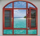 Фошань производство тепловой Break алюминиевая дверная рама перемещена стекла с 304ss Net