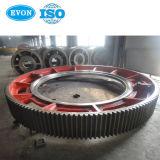 Grande Roda da Engrenagem Cilíndrica de forjar a engrenagem do pinhão para o moinho de bolas